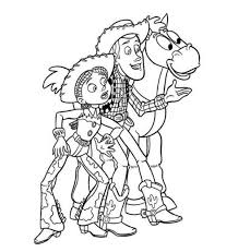 Woody Jessie Bullseye Toy Story 2 Coloring Page
