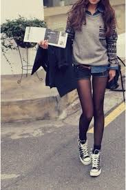Sweater Shorts Shoes Outfit Vintage Grey Aztec Tumblr Clothes Girl