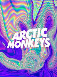 Psychedelic Arctic Monkeys Logo Art Print By Julia