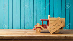 100 Moving Truck For Sale To New Home Concept Toy And Tag On Wooden Stock