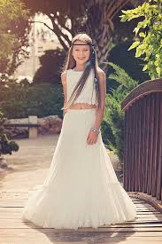 Boho Chic Flower Girl Dress Junior Bridesmaid