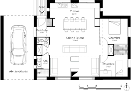 plan maison plain pied 2 chambres superb plan maison de plain pied 3 chambres 5 plan maison 80 m178