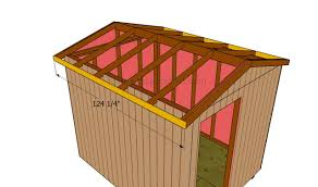8x8 Storage Shed Plans by Building A Gable Roof For A 8x8 Shed Howtospecialist How To