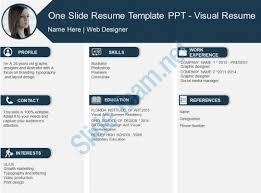 One Slide Resume Template Ppt Visual Slide01 Slide02