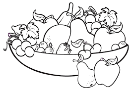 Graceful Fruit Coloring Pages 5 For Basket 20 I Fresh Kids Printable Fruits
