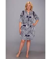 dkny plus size roman stripe crepe de chine ls yneck shirt dress w