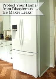 Samsung Refrigerator Leaking Water On Floor by How To Protect Your Home From Costly Refrigerator Leaks Pretty
