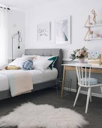 Teen Bedroom Room In Soft Pastel Colors