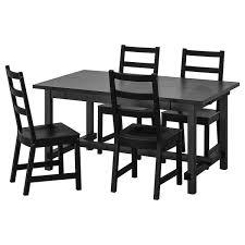nordviken nordviken tisch und 4 stühle schwarz schwarz