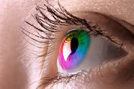 Blue Prescription Halloween Contacts by Colored Contacts