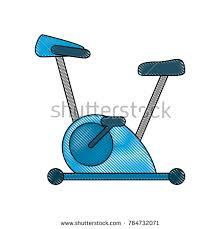 Gym Machine Stock Vector 764734159