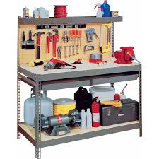 Edsal Metal Storage Cabinets by Edsal Heavy Duty Steel Workbench Mrwb 6 Walmart Com