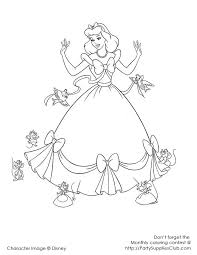 Cinderella Dress Up Coloring Pages Printable For Girlsfree Online Kids