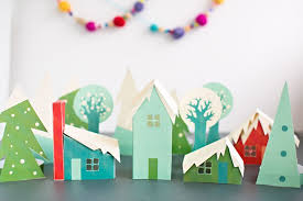 Simple Kids Paper Craft Christmas Decoration Idea
