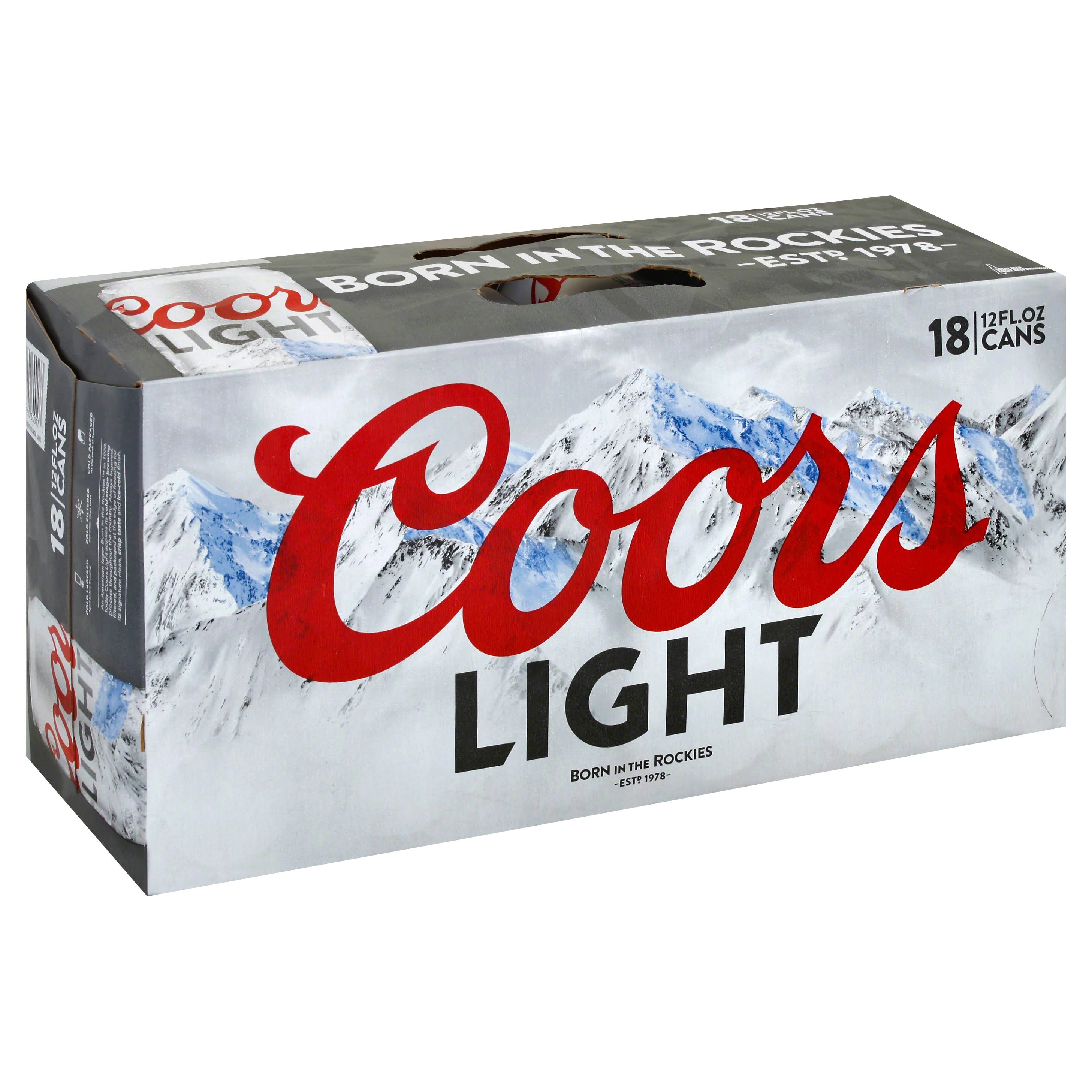 Coors Light Beer - 18 Cans