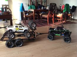 Custom Traxxas Summit W Newly Designed Trailer And Custom E Maxx On ...