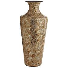 gold silver crackle glass mosaic vase pier 1 imports