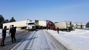 100 I 80 Truck Stop Semis Involved In Multiple Interstate Crashes Including Pile