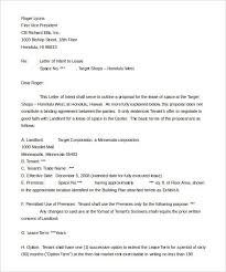 Contractor Letter Intent Sample Templates Resume Examples