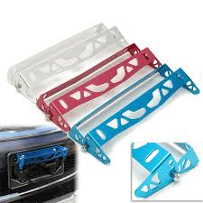 Universal Auto Car Truck Bumper Tilt License Number Plate Mount ...