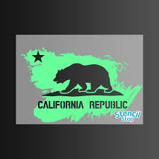 California State Flag Stencil Stop