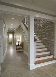 Love The Stone Wall Down Basement Stairs Staircase Design Pictures