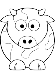 Cow Coloring Pages For Toddlers