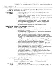 Rhactorbangcom Entry Resume Profile Examples For Law Enforcement Level Police Officer Duties