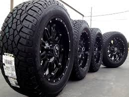 Black Truck Rims And Tires Monster Wheels For Best With 20 Inch For ...