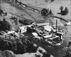 100 Paper Mill House Aerial View Of Little Paxton In 1951 Nearly All The