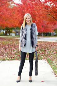 Life With Emily Blogger Top Jacket Bag Jewels Faux Fur Grey Sweater