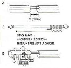 convert two way draw traverse curtain rod to one way draw traverse rod