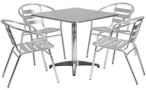"""Flash Furniture 31.5"""" Square, 28"""" Tall Tabletop With Textured Surface -  Silver Alinum Alloy Outdoor Portable Camping Pnic Bbq Folding Table Chair Stool Set Cast Cats002 Rectangular Temper Glass Buy Tableoutdoor Tablealinum Product On Alibacom 235 Square Metal With 2 Black Slat Stack Chairs Table Set From Chairs Carousell Best Choice Products Patio Bistro W Attached Ice Bucket Copper Finish Chelsea Oval Ding Of 7 Details About Largo 5 Piece Us 3544 35 Offoutdoor Foldable Fishing 4 Glenn Teak Wood Extendable And Bk418 420 Cafe And Restaurant Chairrestaurant"""