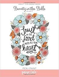 Amazon Beauty In The Bible Adult Coloring Book Volume 2 9781941325520 Paige Tate Lindsay Hopkins Books