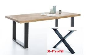 esstisch 180 x 100 cm wildeiche massiv geölt x profil schwarz e 2318 4
