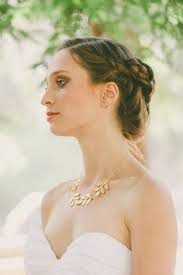 Bridal Leaf Necklace Gold Jewelry Statement Spring Bride Bridesmaids Rustic Woodland Wedding Accessories