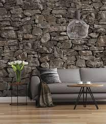 decor sd908 fototapete steinmauer grau braun