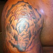 Brilliant Big Libra Zodiac Tattoo On Shoulder For Men