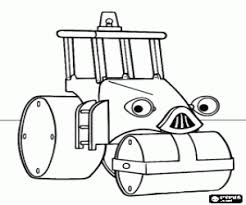 Roley The Steamroller Wendy And Excavator Coloring Page