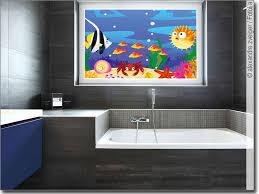 glasbild mit wasserwelt für kinderzimmer oder bad