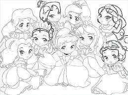 Baby Princess Coloring Pages Disney Book With Stickers Games Books For Adults Large Size