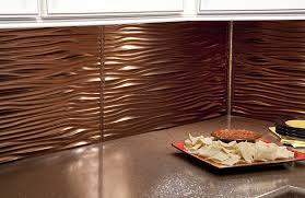 kitchen backsplash waves in rubbed bronze copper kitchen