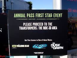 Halloween Horror Nights Annual Passholder Early Admission by Blog Archives