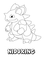 Pokemon Coloring Pages Nidoking