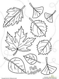 Fall Leaves Coloring Pages Kids 8 Printable
