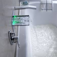 led bathtub faucets waterfall bathtub faucet at junoshowers