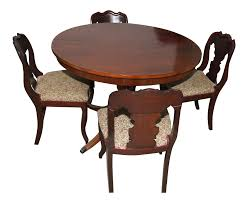 Vintage 1940's Craddock Furniture Of Indiana Mahogany Table & Chairs