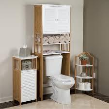 bathroom decorating ideas using white brown wooden bamboo bathroom
