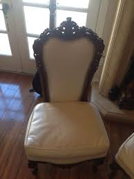 Antique Hand Carved Wood Reupholstered High-Back Renaissance ... Carved Mahogany High Back Ding Side Chairs Collectors Weekly Arm Chair Kiefer And Upholstered Rest From Followbeacon Antique Vintage Set Of 6 Edwardian Oak French Style Fabric Solid Wood Wooden Buy Chairupholstered Chairssolid Beautiful Of Eight Quality Victorian 19th Century Renaissance Throne Four Antiquue Early 20th Art Deco Classical Chinese Fniture A Collecting Guide Christies Pdf 134