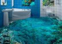 The Flooring Incorporates Angled Images Along With Multiple Translucent Layers To Achieve Incredible 3D Effect Result Plants Animals Fish Coral